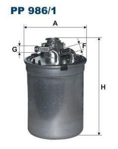 Palivový filtr Filtron PP 986/1