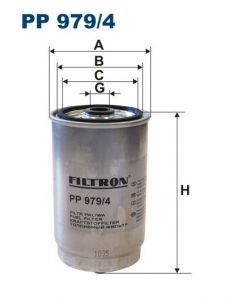 Palivový filtr Filtron PP 979/4