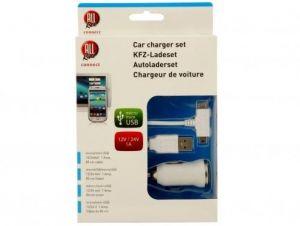 Autonabiječka Micro + Mini USB 1A 12/24V
