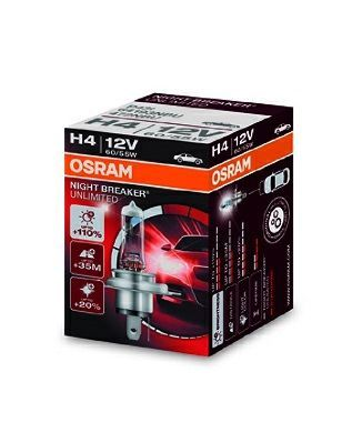 OSRAM H4 NIGHT BREAKER UNLIMITED, 12V, 60/55W, P43t