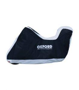 Plachta na motorku Oxford Aquatex L s prostorem na kufr (černá/stříbrná)