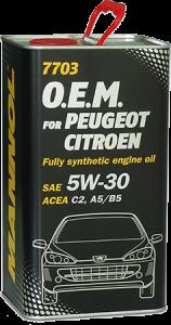 Mannol 7703 O.E.M 5W-30 4L (Citroen, Peugeot)