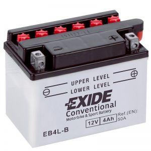 MOTOBATERIE EXIDE CONVENTIONAL 12V 4AH 50A YB4L-B, EB4L-B