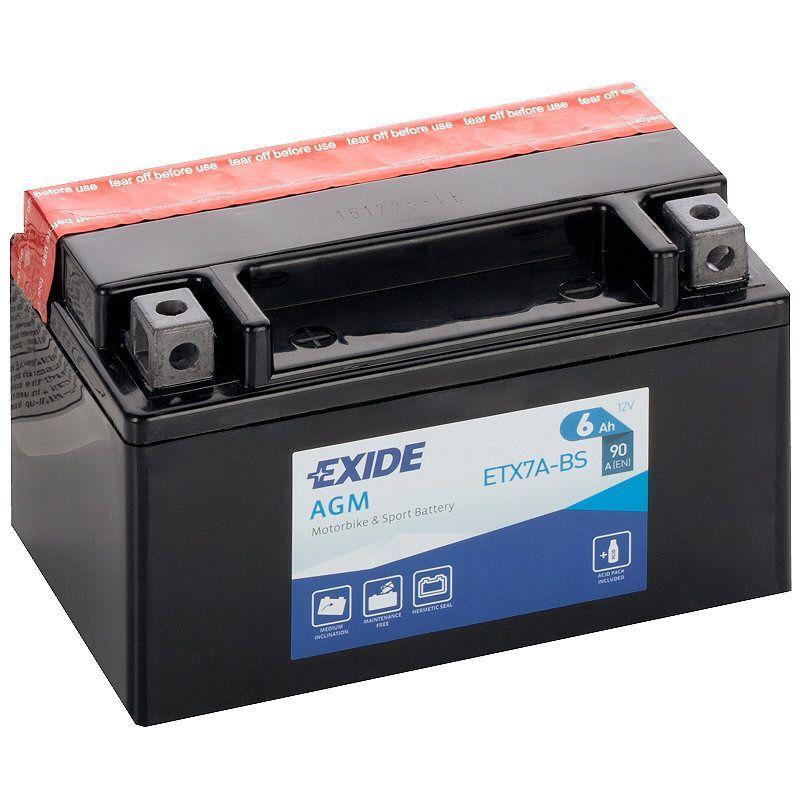 Motobaterie EXIDE ETX7A-BS