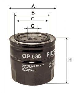 Olejový filtr Filtron OP 538