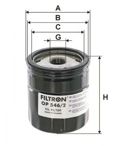 Olejový Filtr Filtron OP 546/2