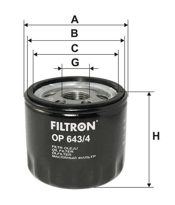 Olejový filtr Filtron OP 643/4