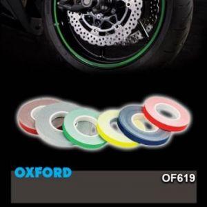 OXFORD proužky na kola s aplikátorem OF616 zelený