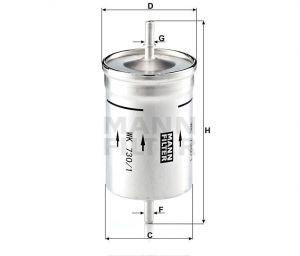 Palivový filtr Mann-Filter WK 730/1