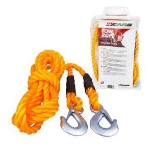 Tažné lano s karabinami 3000 kg , 4 M