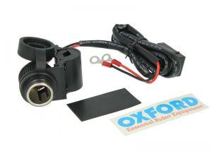 Vodotěsná zásuvka 12V Oxford EL101 pro upevnění na řidítka