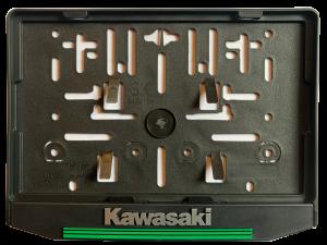 3D Podložka pod SPZ MOTO Kawasaki zelená