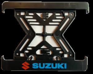 3D Podložka pod SPZ MOTO Suzuki blue