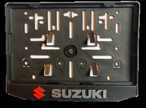3D Podložka pod SPZ MOTO Suzuki red