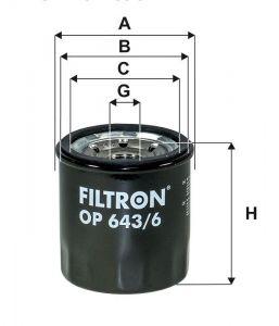 Olejový filtr Filtron OP 643/6