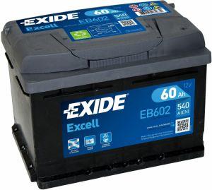 Exide Excell 12V 60Ah 540A EB602
