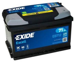 Exide Excell 12V 71Ah 670A EB712