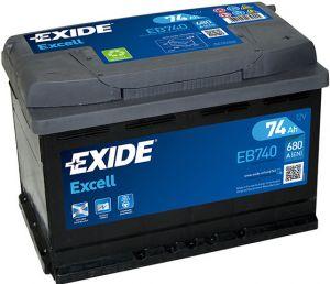 Exide Excell 12V 74Ah 680A EB740