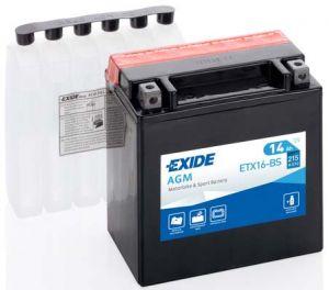 Moto baterie EXIDE ETX16-BS, 14Ah