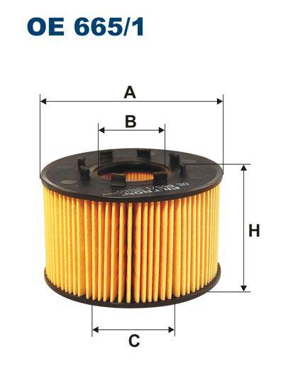 Olejový filtr Filtron OE 665/1