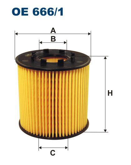 Olejový filtr Filtron OE 666/1