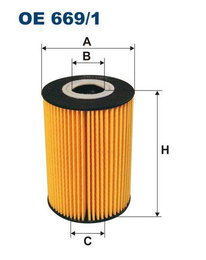 Olejový filtr Filtron OE 669/1
