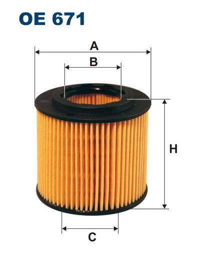 Olejový filtr Filtron OE 671