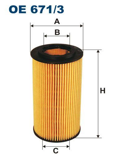 Olejový filtr Filtron OE 671/3