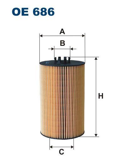 Olejový filtr Filtron OE 686