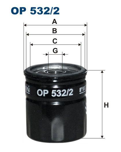Olejový filtr Filtron OP 532/2