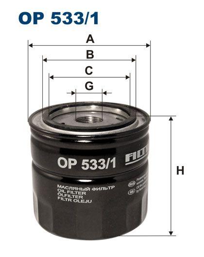 Olejový filtr Filtron OP 533/1
