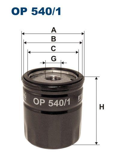 Olejový filtr Filtron OP 540/1