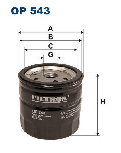 Olejový filtr Filtron OP 543