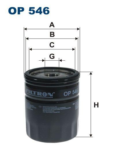 Olejový filtr Filtron OP 546