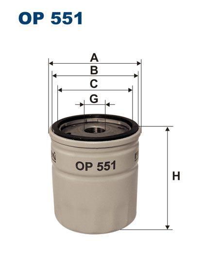 Olejový filtr Filtron OP 551