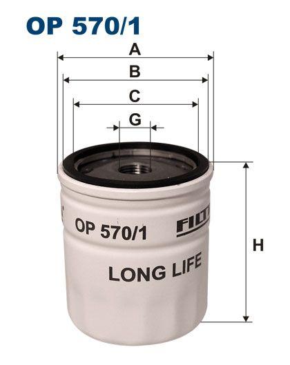 Olejový filtr Filtron OP 570/1