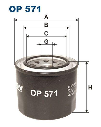Olejový filtr Filtron OP 571