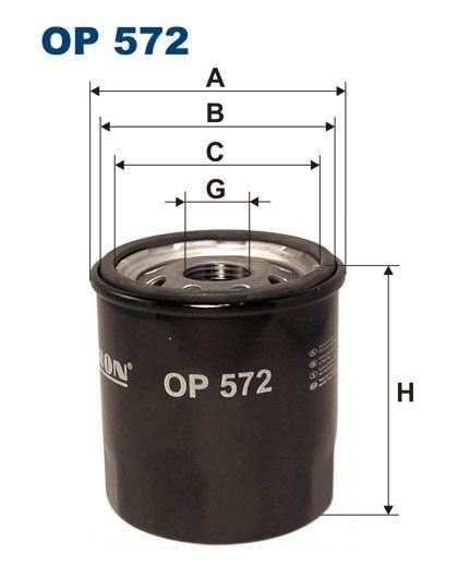 Olejový filtr Filtron OP 572