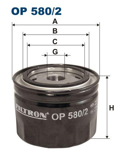 Olejový filtr Filtron OP 580/2