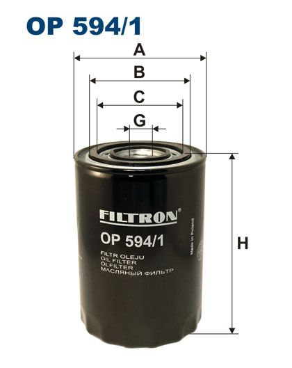 Olejový filtr Filtron OP 594/1