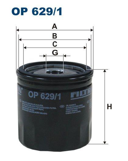 Olejový filtr Filtron OP 629/1