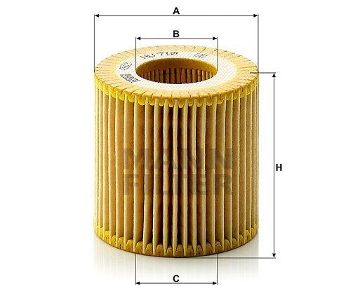 Olejový filtr Mann-Filter HU 710 x
