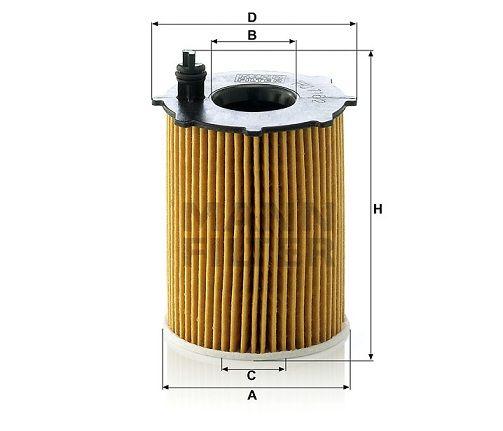 Olejový filtr Mann-Filter HU 716/2 x