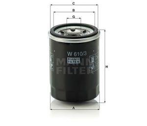 Olejový Filtr Mann-Filter W 610/3
