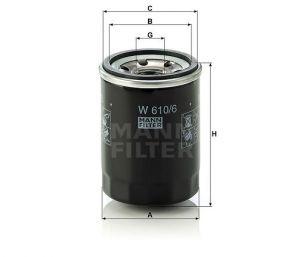 Olejový filtr Mann-Filter W 610/6
