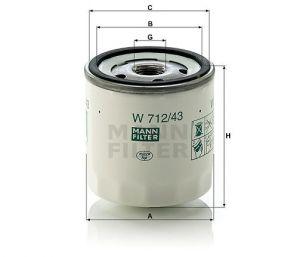 Olejový filtr Mann-Filter W 712/43
