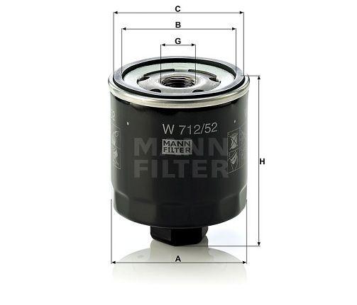 Olejový filtr Mann-Filter W 712/52
