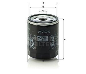 Olejový filtr Mann-Filter W 712/73