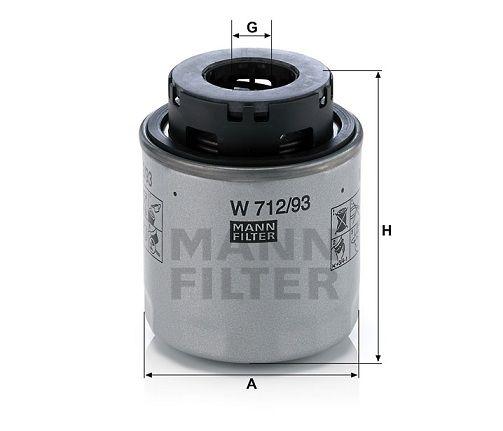 Olejový filtr Mann-Filter W 712/93