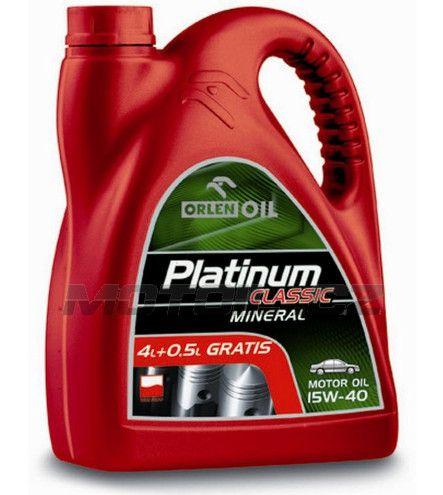 Platinum CLASSIC MINERAL 15W-40 4,5L Orlenoil